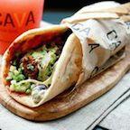 Cava Grill Pita Sandwich