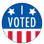 I Voted Sign