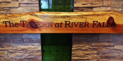 Tavern at River Falls sign