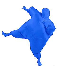 Blue inflatable costume