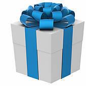 Blue present box
