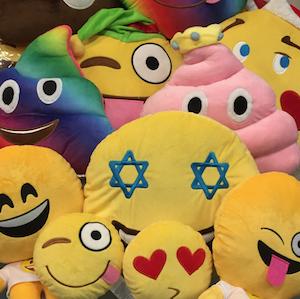 On Cloud 9 emoji pillows