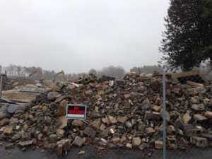 White Flint rubble
