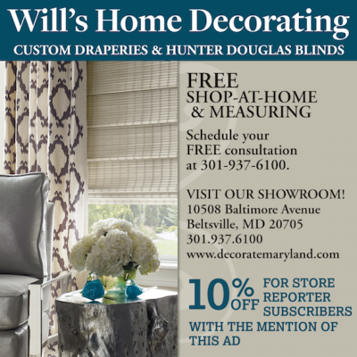 Wills Decorating ad: www.decoratemaryland.com