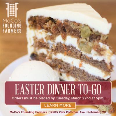 MoCo's Founding Farmers Easter-to-Go ad: http://www.wearefoundingfarmers.com/eastertogo/