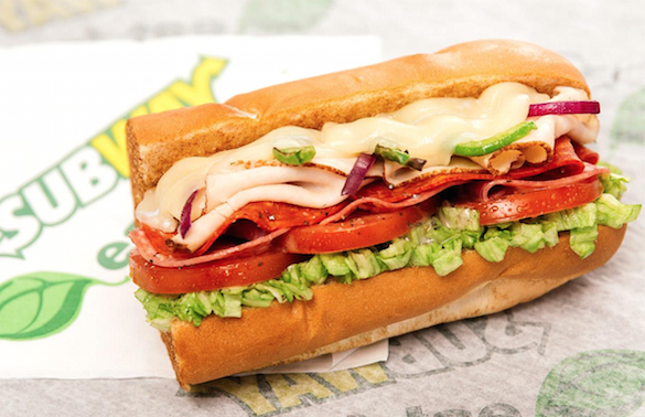 Subway footlong 585