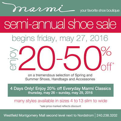 Marmi Shoes sale ad