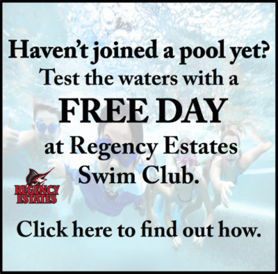 Regency Estates free pool day ad: mailto publisher@storereporter.com