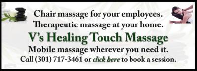 2016 V's Healing Touch Massage ad: http://vhealingtouchmassage.com