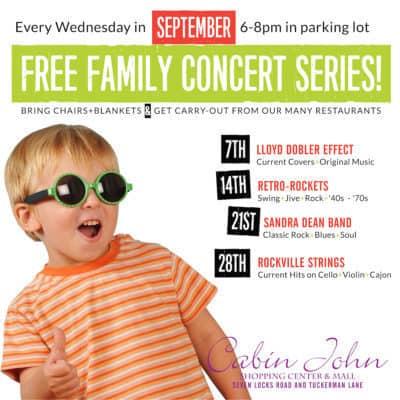 Cabin John Family Concert Series ad: http://www.shopcabinjohn.com/events/?utm_source=Store+Reporter&utm_campaign=f48d0e57ea-SR-9-19-16-Breaking+News%3A+MET+Bethesda+Out&utm_medium=email&utm_term=0_8d10ac5d3d-f48d0e57ea-%5BLIST_EMAIL_ID%5D&ct=t%28SR-9-19-MET+Bethesda+Out%29&mc_cid=f48d0e57ea&mc_eid=%5BUNIQID%5D
