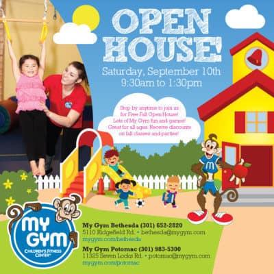 My Gym Open House ad: http://www.mygym.com/potomac/articles/5678?utm_source=Store+Reporter&utm_campaign=19ff15fc43-SR-9-8-16-SurLaTable%2CH%26M%2CRedDr%2CHotPots%2CBagelBalls&utm_medium=email&utm_term=0_8d10ac5d3d-19ff15fc43-%5BLIST_EMAIL_ID%5D&ct=t%28SR-9-8-16-SurLaTable%2CH&M%2CRed_Dr%2CHotPots%2CBagelBalls%29=&mc_cid=19ff15fc43&mc_eid=%5BUNIQID%5D