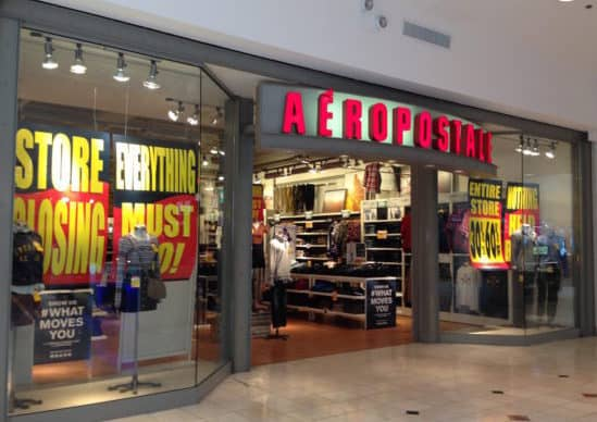 Aerpostale store closing sale at Westfield Montgomery Mall