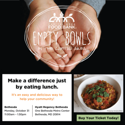 Capital Area Food Bank fundraiser: https://www.capitalareafoodbank.org/empty-bowls/