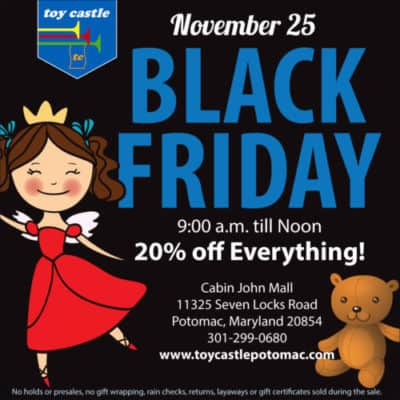 Toy Castle Potomac Black Friday sale
