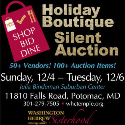 WHC Sisterhood Holiday Boutique: http://www.whctemple.org/groups-and-activities/adult-groups/sisterhood