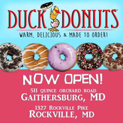 Duck Donuts in Gaithersburg and Rockville: https://duckdonuts.com/locations/rockville-md/