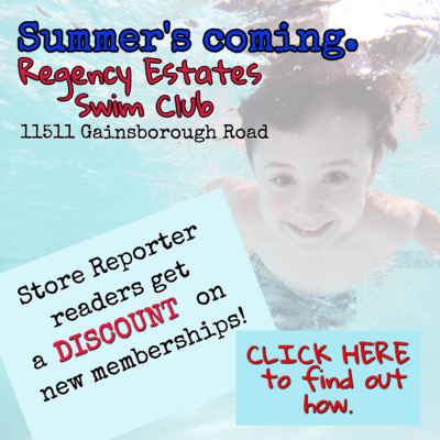 For a discount on new memberships at Regency Estates Swim Club, email publisher@storereporter.com