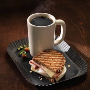Sandwich and coffee at Panera