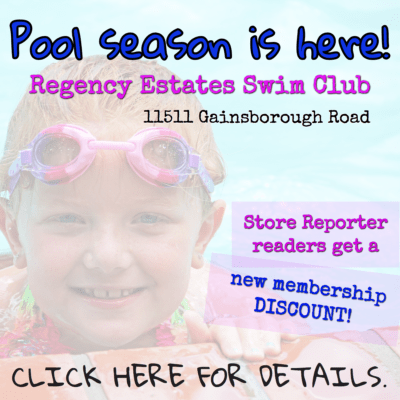 For a membership discount at Regency Estates Swim Club, contact publisher@storereporter.com