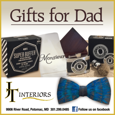 Father's Day gifts at JT Interiors in Potomac Village: https://www.facebook.com/jtinteriorspotomac/