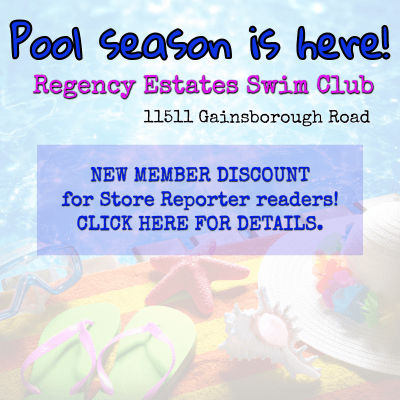 For a membership discount at Regency Estates Swim Club, email publisher@storereporter.com