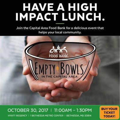 Capital Area Food Bank Empty Bowls Bethesda: https://www.capitalareafoodbank.org/empty-bowls/