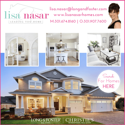 Realtor Lisa Nasar with Long & Foster: http://www.lisanasarhomes.com