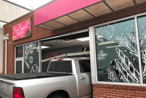 Car crashes into Fresh Baguette bakery