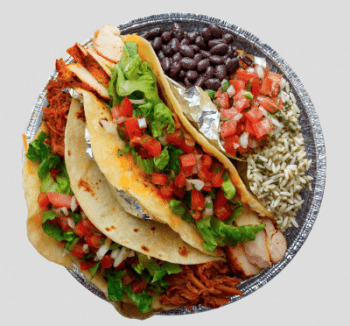Cafe Rio taco platter