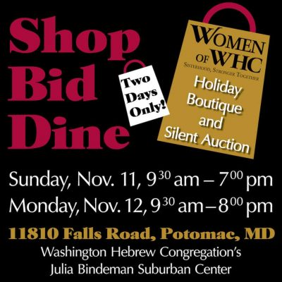Washington Hebrew Congregation Holiday Boutique