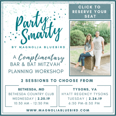 Magnolia Bluebird Party Smarty mitzvah workshop