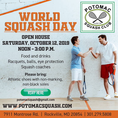 Potomac Squash Club World Squash Day