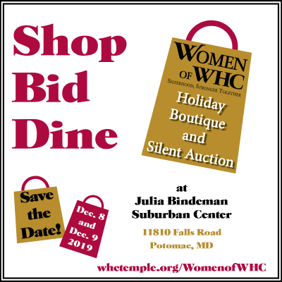 Washington Hebrew Congregation Holiday Boutique and Silent Auction