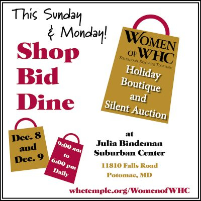 Washington Hebrew Congregation Holiday Boutique & Silent Auction